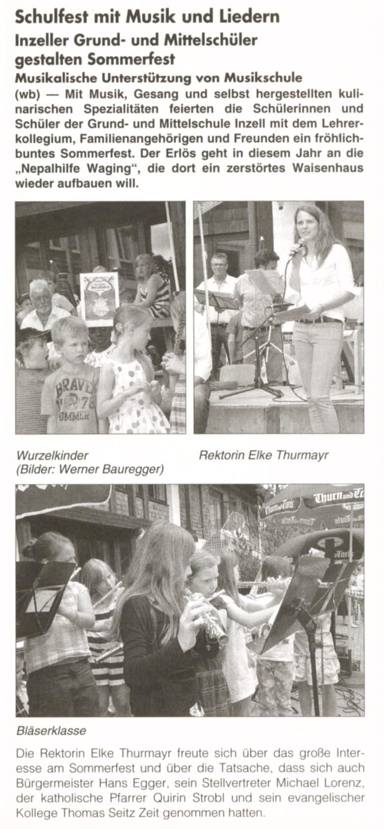 Artikel Schulfest Gemeindenanzeiger 001