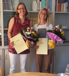 Beförderung Frau Koch und Frau Gangkofner
