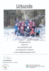Urkunde Walderlebnisspiele 3a 001