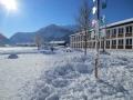 Pausenhof im Winter