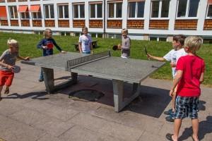 Pausenhof Tischtennis