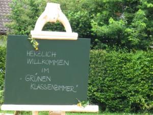 Grünes Klassenzimmer Tafel